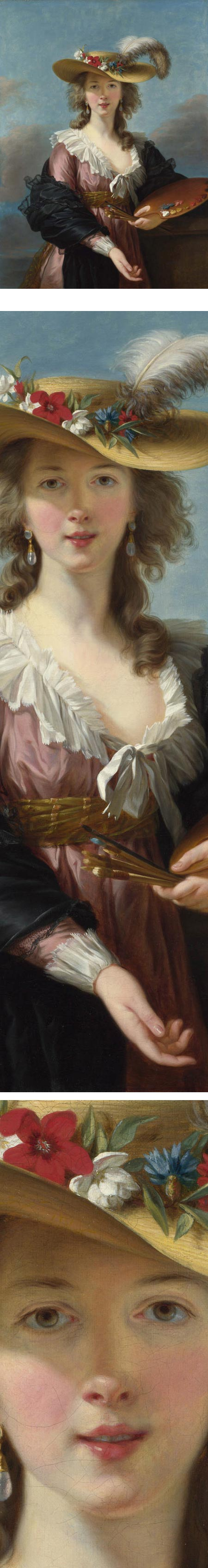 Self Portrait in a Straw Hat, Elisabeth Louise Vigee Le Bru