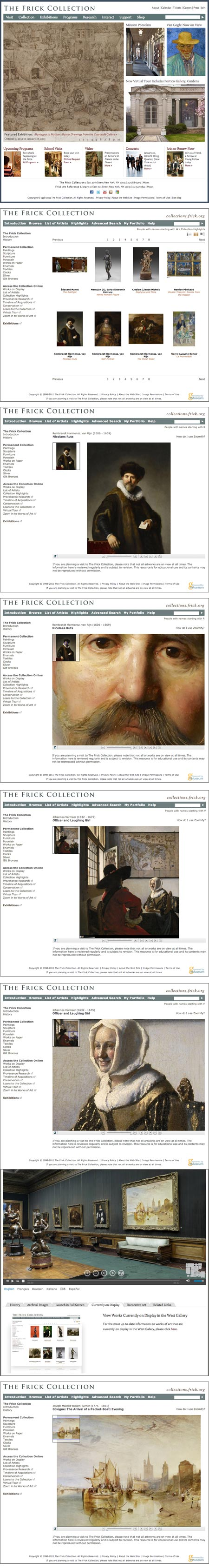 New Frick Collection Website