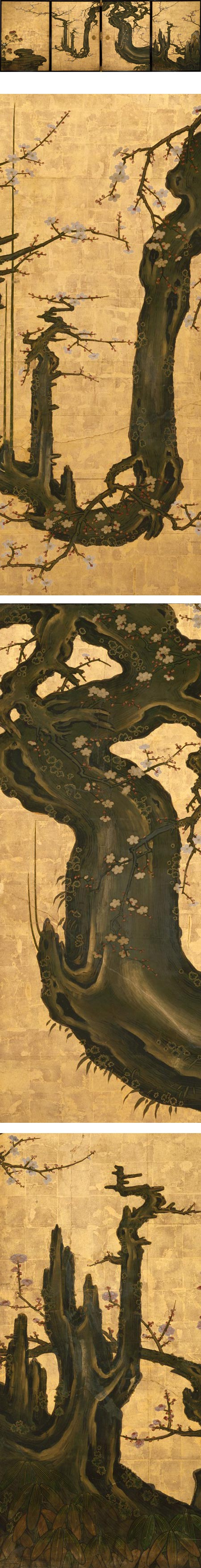 The Old Plum, Kano Sansetsu