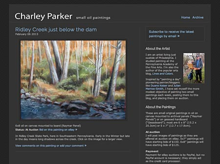 Chaley Parker painting  blog