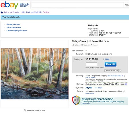 Chaley Parker painting  on eBay