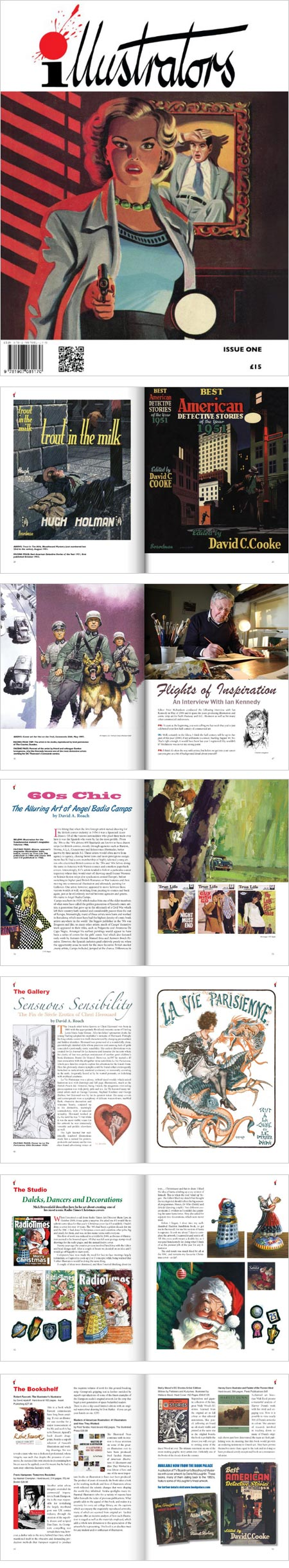 illustrators magazine: Denis McLoughlin, Ian Kennedy, Angel Badia Camps, Cheri Herouard, Mick Brownfield