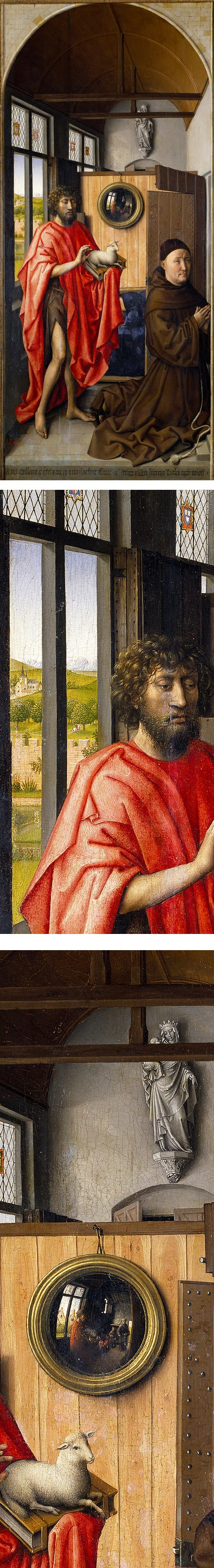 Saint John the Baptist and the Franciscan Heinrich von Werl, Robert Campin