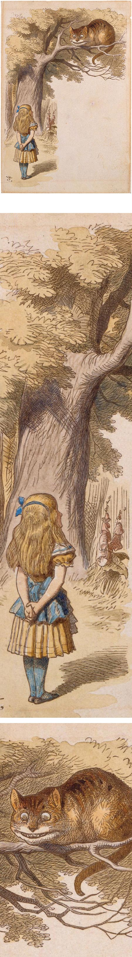 Cheshire Cat in the Tree Above Alice, Sir John Tenniel