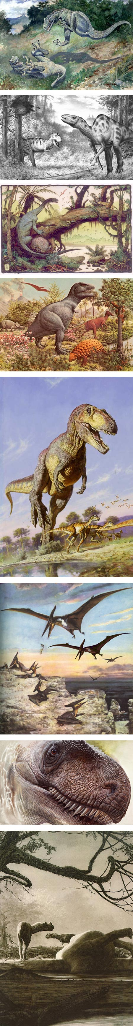 Picturing Dinosaurs on Tor.com: Charles R. Knight, Robert F. Walters, William Stout, Rudolph Zallinger, James Gurney, Zdeněk Burian, Peter Schouten,  Douglas Henderson