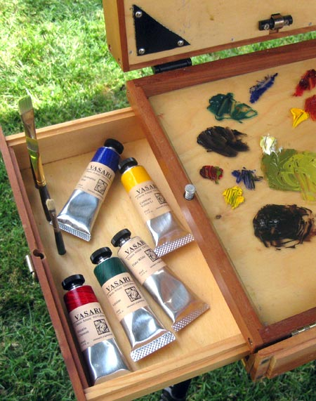 Vasari Classic Artists' Oil Colors, Alla Prima Pochade painting box