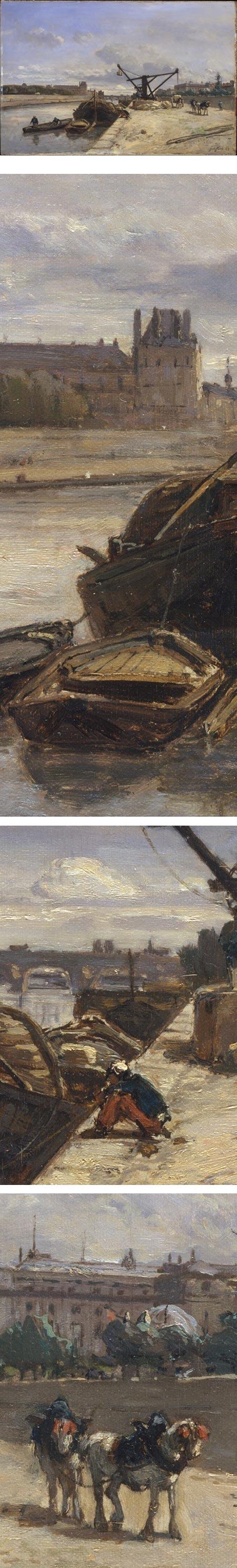 View from the Quai d'Orsay, Johan Barthold Jongkind