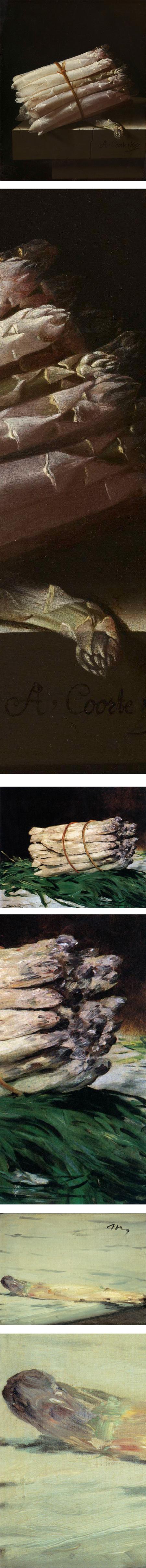 Asparagus, Adriaen Coort, Edouard Manet
