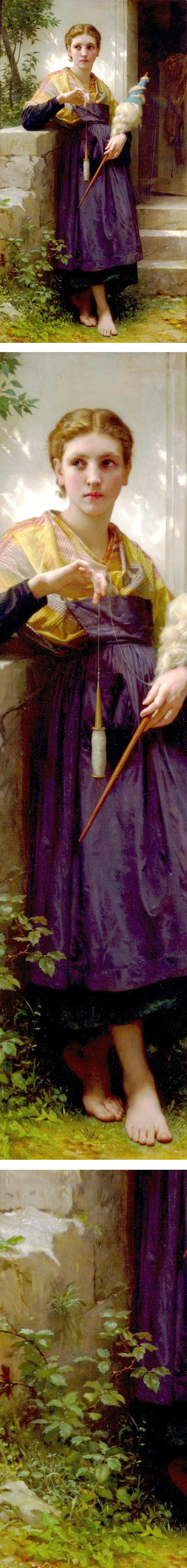 The Spinner, William-Adolphe Bouguereau