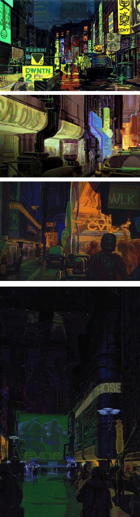 Syd Mead Bladerunner concept art
