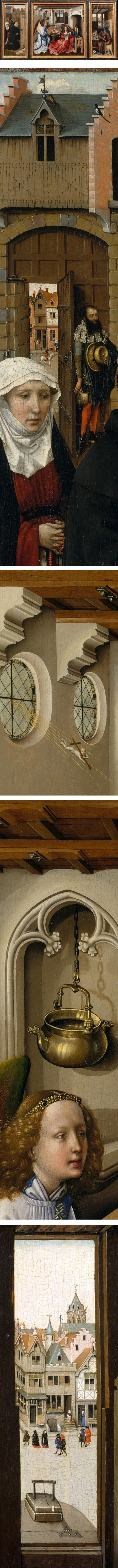 Annunciation Triptych (Merode Altarpiece), Workshop of Robert Campin