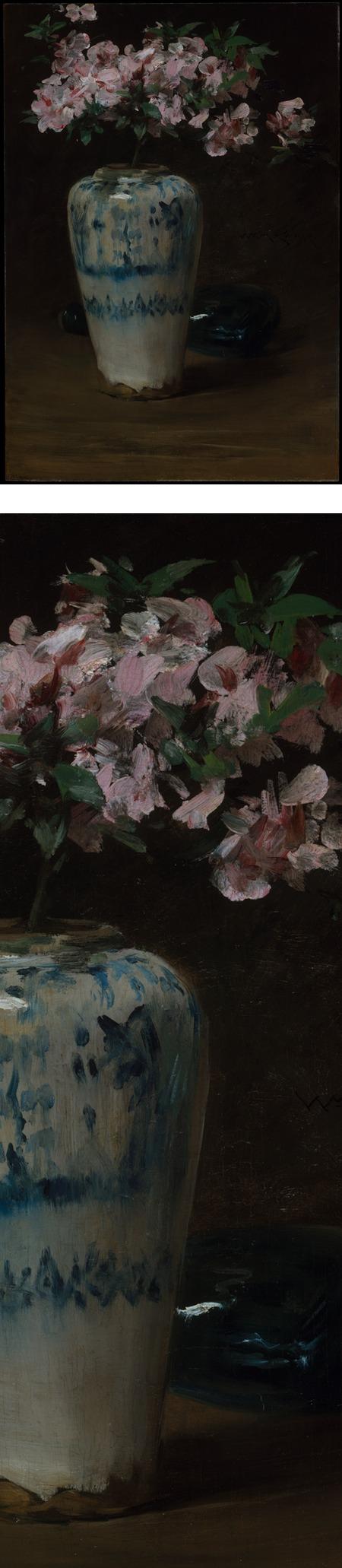 Pink Azalea - Chinese Vase, William Merritt Chase