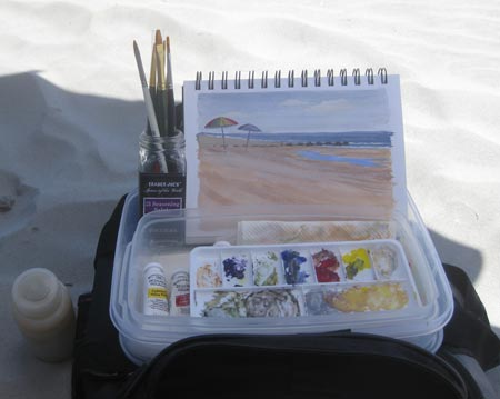 My simple portable gouache kit