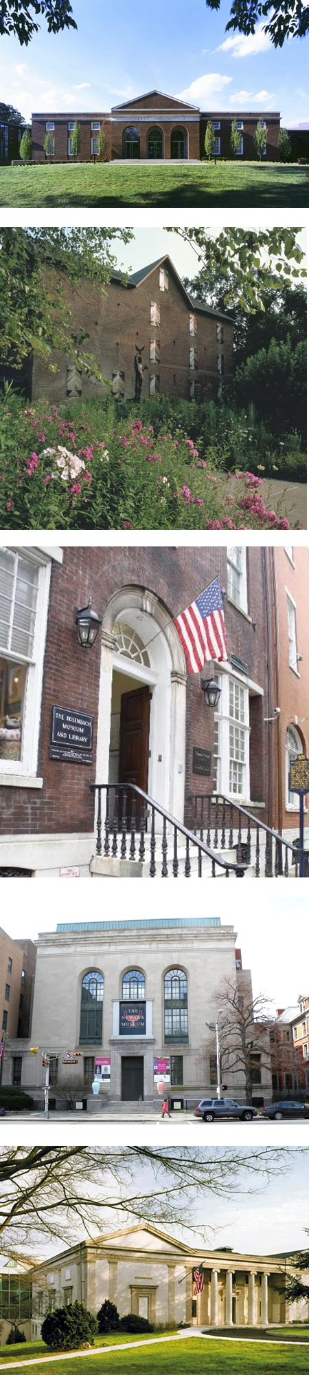 Museum Day, 2013: Delaware Art Museum; Brandywine River Museum, Rosenbach Museum; Newark Museum, Montclair Museum