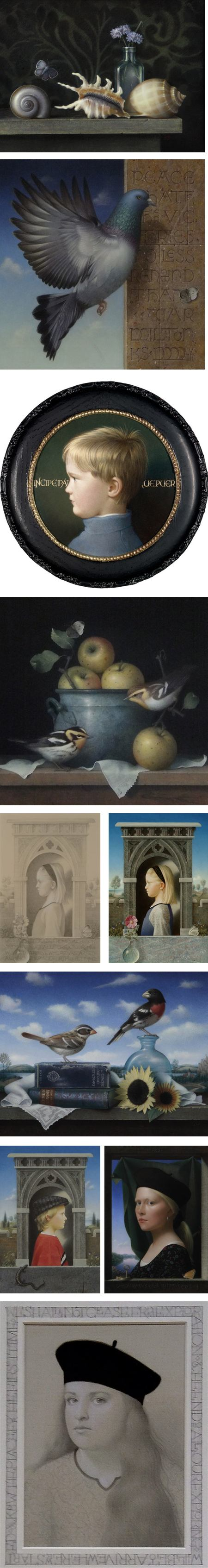 Koo Schadler, egg tempera painting and silverpoint drawing