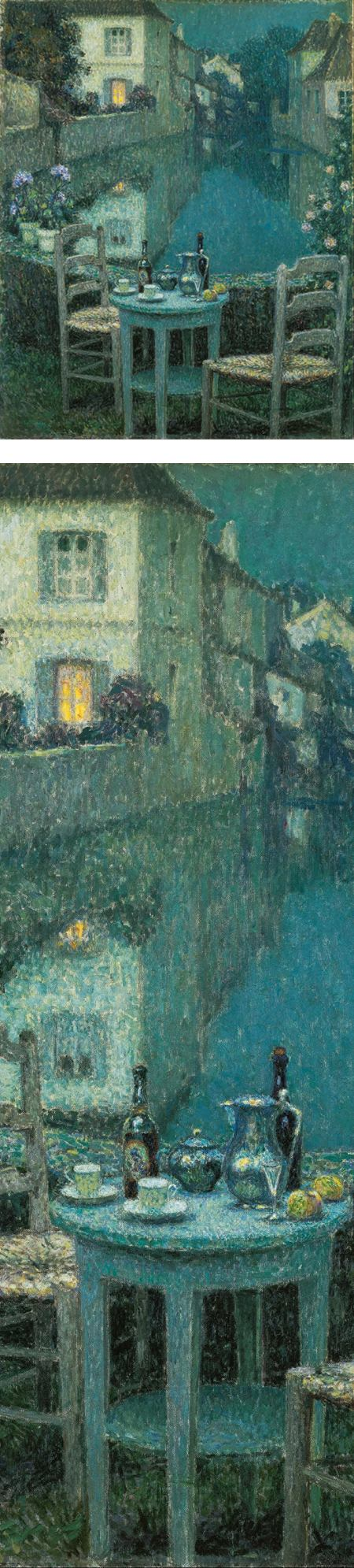 Small Table in Evening Dusk, Henri Le Sidaner