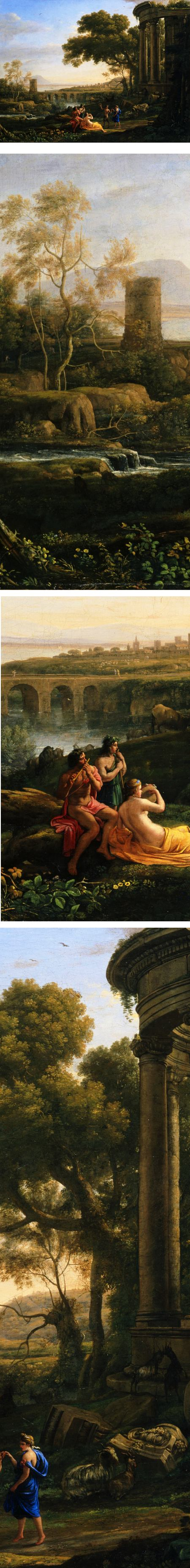 Landscape with Nymph and Satyr Dancing, Claude Lorrain