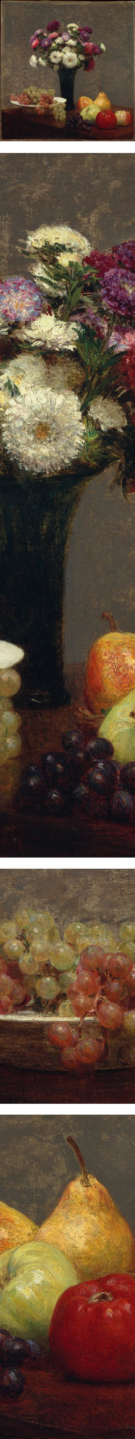 Asters and Fruit on a Table, Henri Fantin-Latour