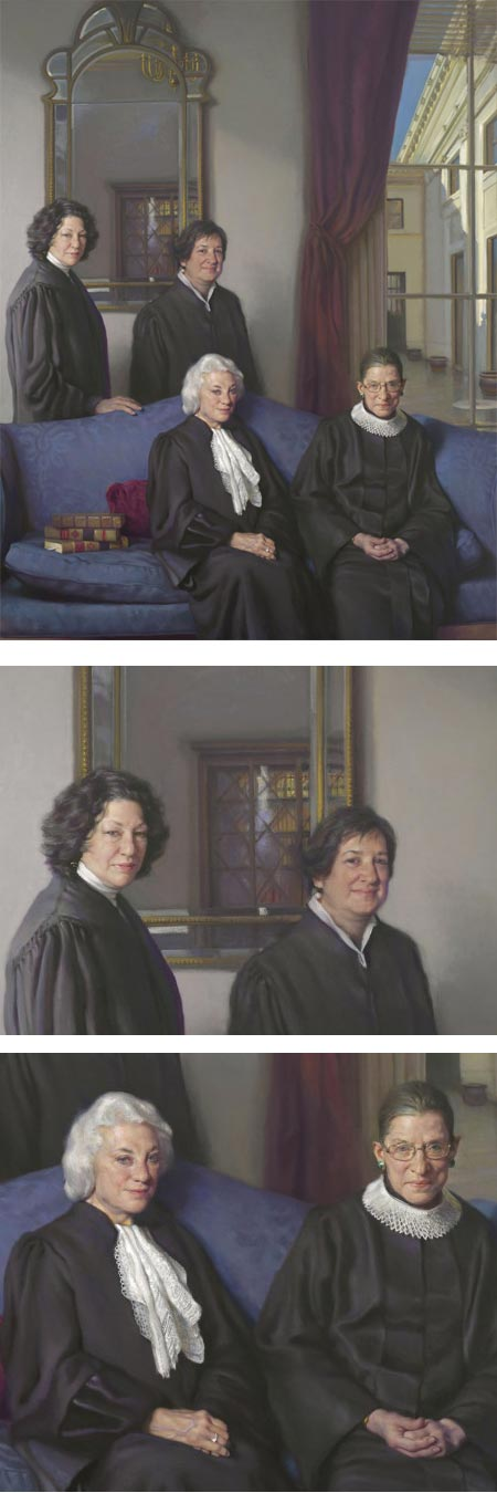 Nelson Shanks portrait of women Supreme Court justices: Four Justices