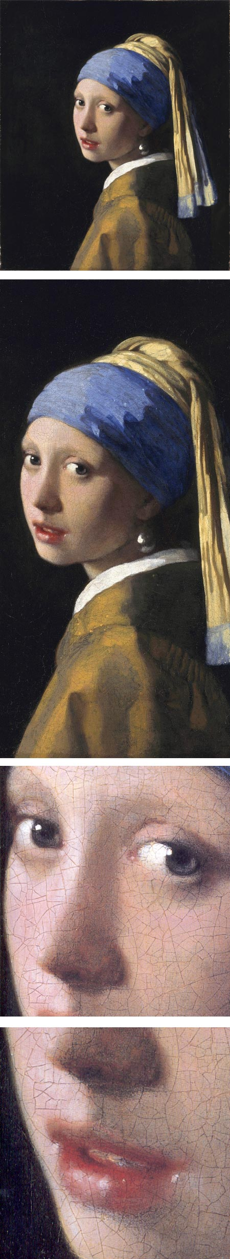 Vermeer, Rembrandt and Hals at the Frick in NY, Girl with a Pearl Earring, Vermeer