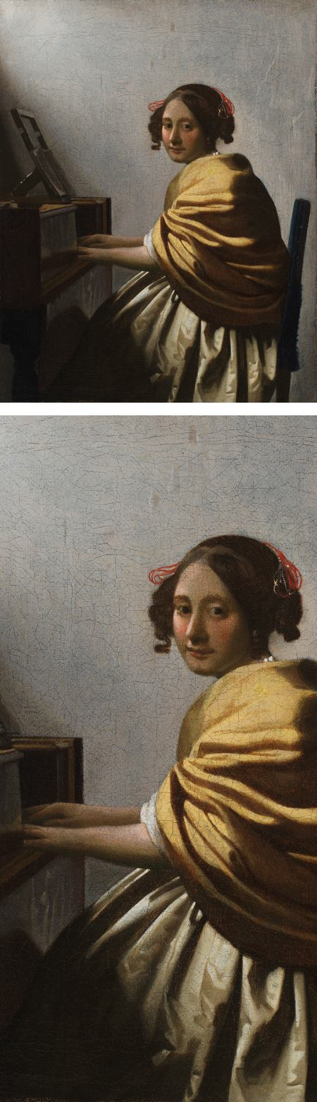 Vermeer's Young Woman Seated at a Virginal on view at Philadelphia Museum of Art