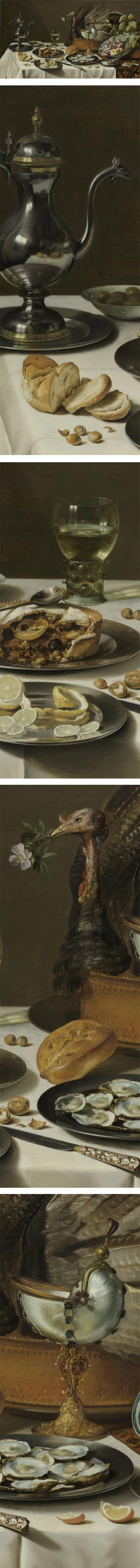 Still Life with a Turkey Pie, Pieter Claesz