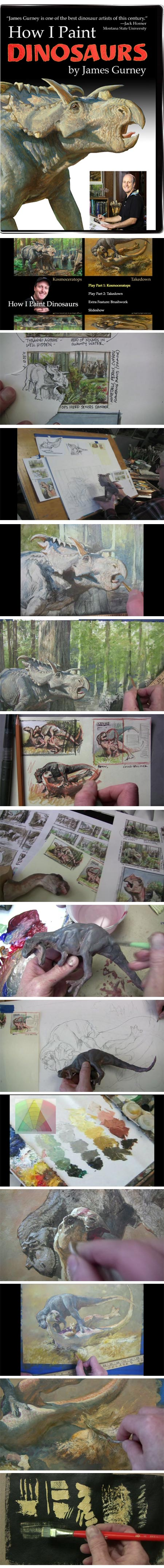 James Gurney's How I paint Dinosaurs