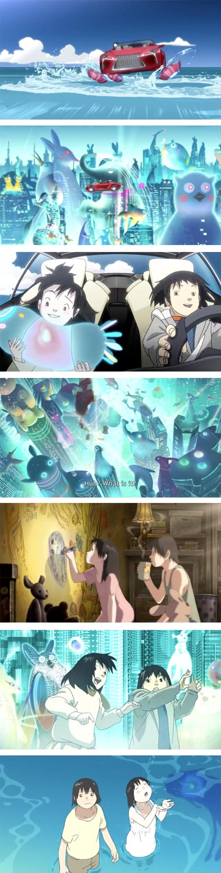 Koji Morimoto animated sequence fo Lexus