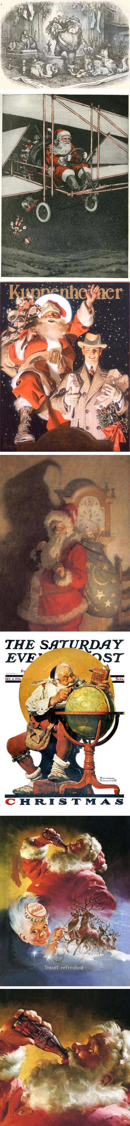 Illustrator's Visions of Santa Claus: Thomas Nast, Reginald Birch, J.C. Leyendecker, N.C. Wyeth, Norman Rockwell, Haddon Sundblom