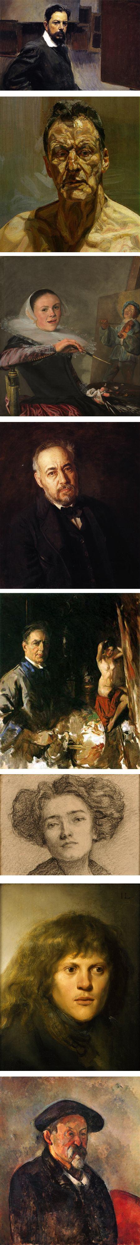 Joaquin Sorolla y Bastida, Lucian Freud, Judith Leyster, Thomas Eakins, Howard Chandler Christy,  Ila Schutz,  Jan Lievens, Paul Cezanne