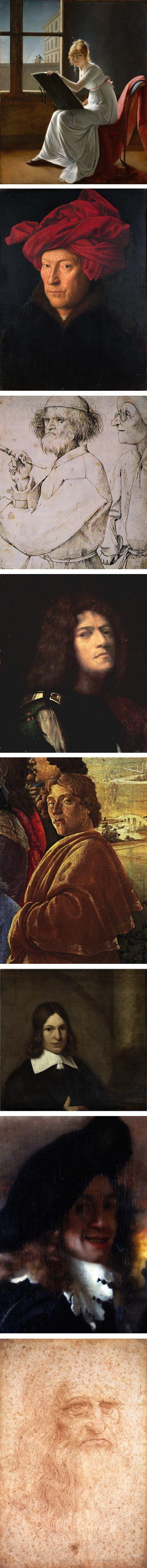 Marie-Denise Villers, Jan van Eyck, Pieter Bruegel the Elder, Giorgione, Sandro Botticelli, Peter de Hooch, Johannes Vermeer, Leonardo da Vinci