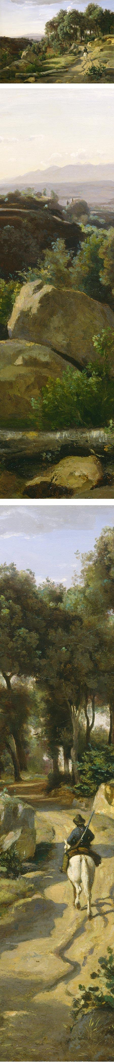 A View near Volterra, ean-Baptiste-Camille Corot