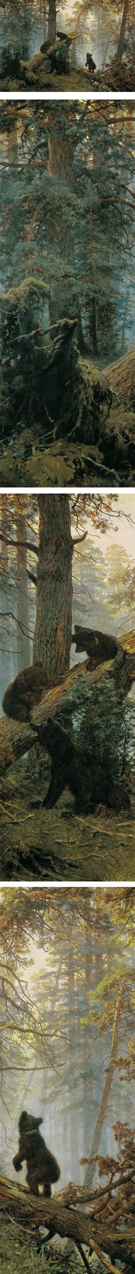 Morning in a Pine Forest, Ivan Shishkin and Konstantin Savitsky