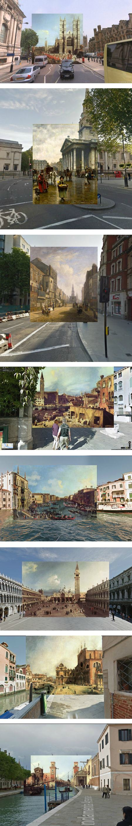 18th century paintings meet Google Street View