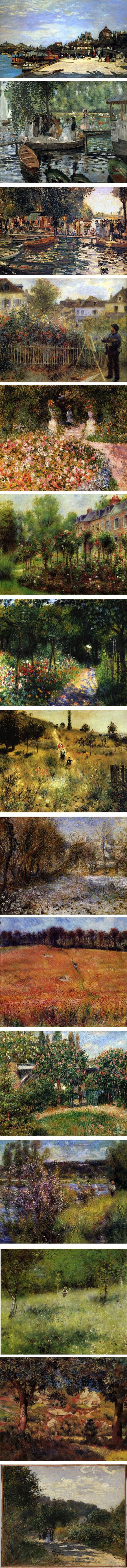 Renoir's landscapes