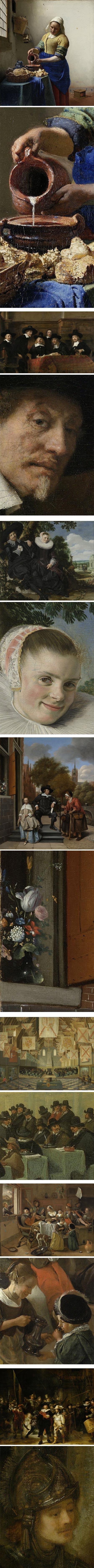 Rijksmuseum's selection for US President's visit:  Johnnes Vermeer, Rembrandt van Rijn, Frans Hals, Jan Havicksz Steen, Bartholomeus van Bassen, Jan Havicksz Steen, Rembrandt