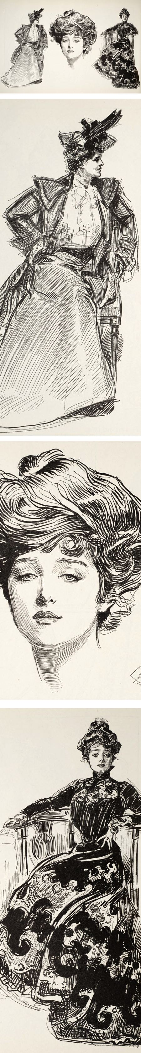 Charles Dana Gibson, classic pen and ink illustration