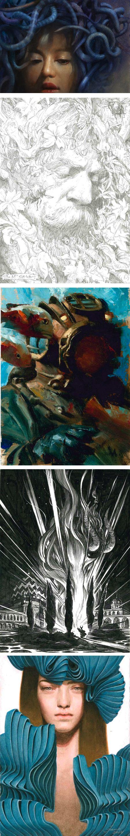 MicroVisions 2014: Robert Hunt, Iain McCaig, Gregory Manchess, Nicolas Delort, Tran Nguyen
