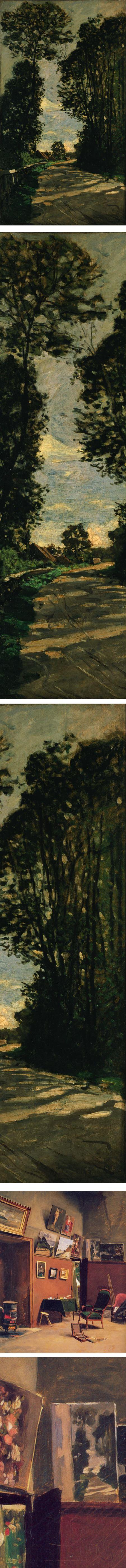 Walk (Road of the Farm Saint-Simeon), Claude Monet and Studion in the rue de Furstenberg, Frederic Bazille