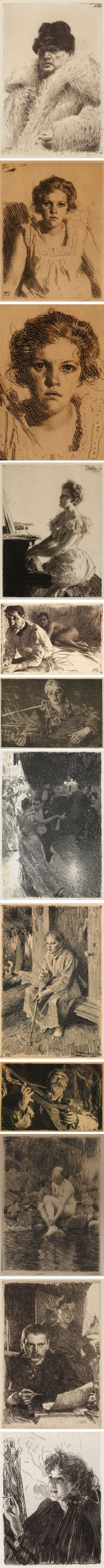 Etchings by Anders Zorn