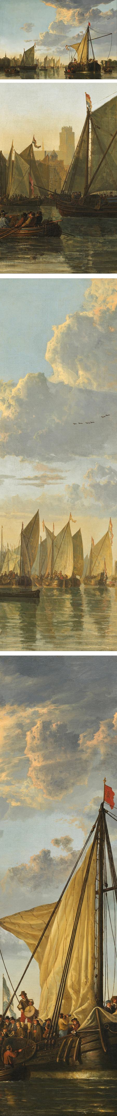 The Maas at Dordrecht, Aelbert Cuyp