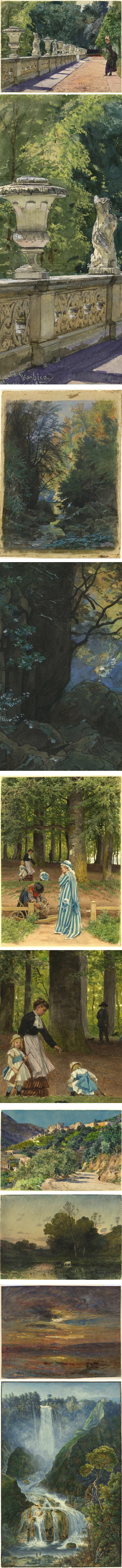 he Color of Nature: Recent Acquisitions of Landscape Watercolors at NGA: Franz Skarbina, Francois-Louis Francais, Anton von Werner, Jules-Ferdinand Jacquemart,  Henri-Joseph Harpignies,  Francois-Auguste, Francois-Auguste  Ravier, Franz Kaisermann