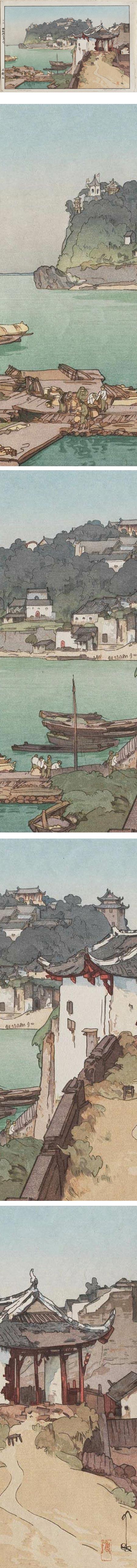 Hiroshi Yoshida woodblock print