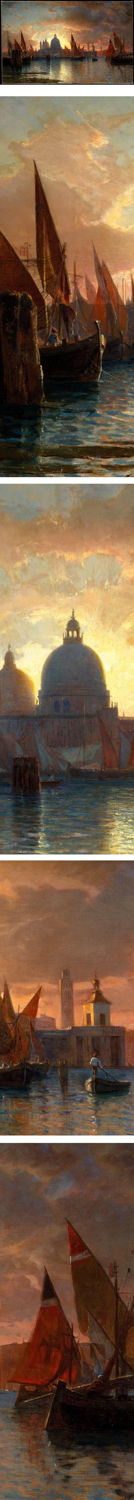 Santa Maria della Salute, Sunset; William Stanley Haseltine