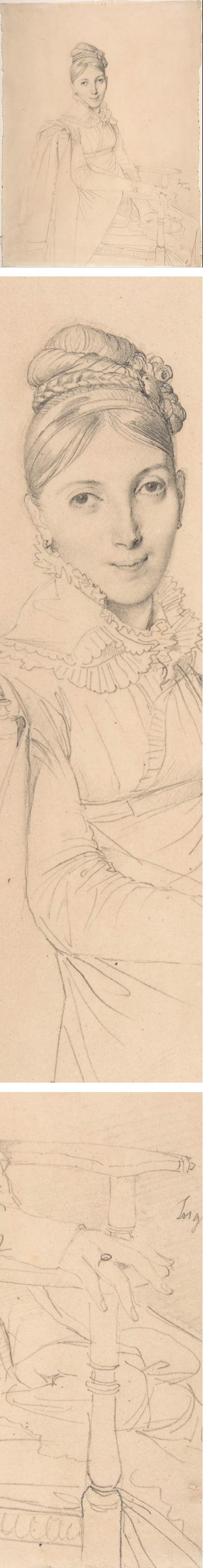 Portrait of a Seated Lady, Jean Auguste Dominique Ingres, pencil portrait drawing