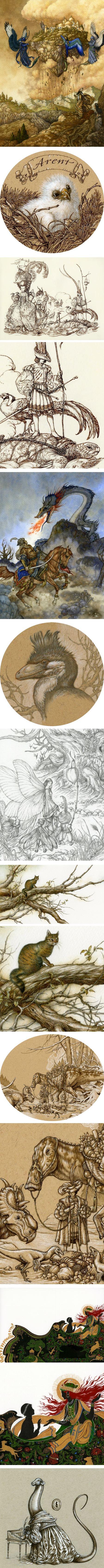 Niroot Puttapipat (himmapaan), illustration and paleo art