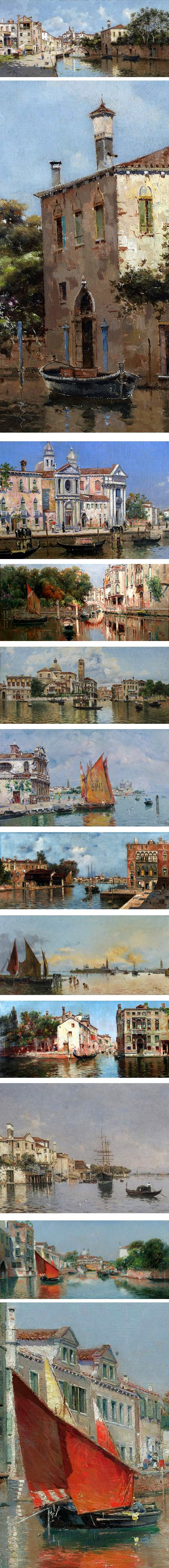 Antonio Maria de Reyna Manescau, paintings of Venice