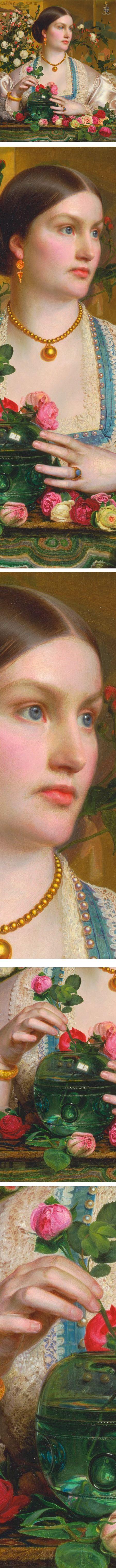 Grace Rose, portrait by Pre-Raphaelite painter Frederick Sandys