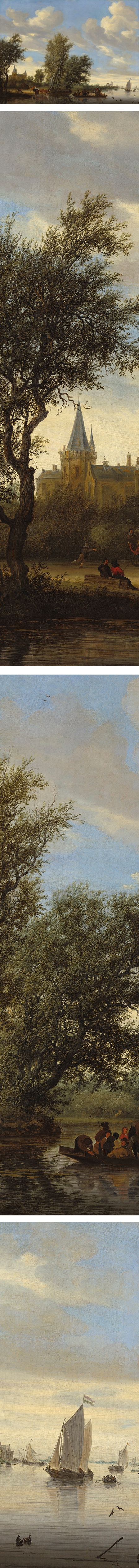 River Landscape with Ferry, Salomon van Ruysdael
