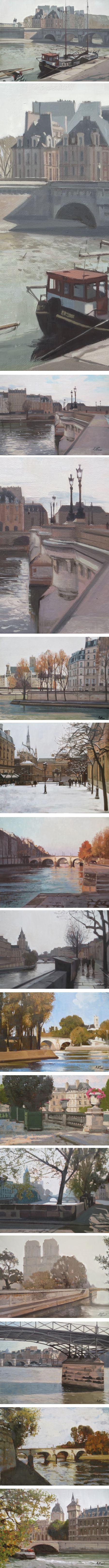 Regis Pettinari, paintings of Paris